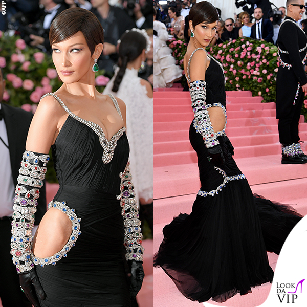 Bella Hadid MET 2019 outfit Moschino
