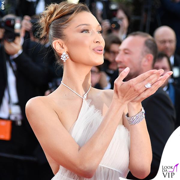 Bella Hadid terza serata abito Dior gioielli Bulgari 2