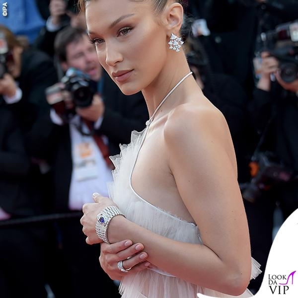 Bella Hadid terza serata abito Dior gioielli Bulgari 6