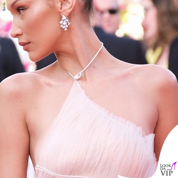 Bella Hadid terza serata abito Dior gioielli Bulgari 9