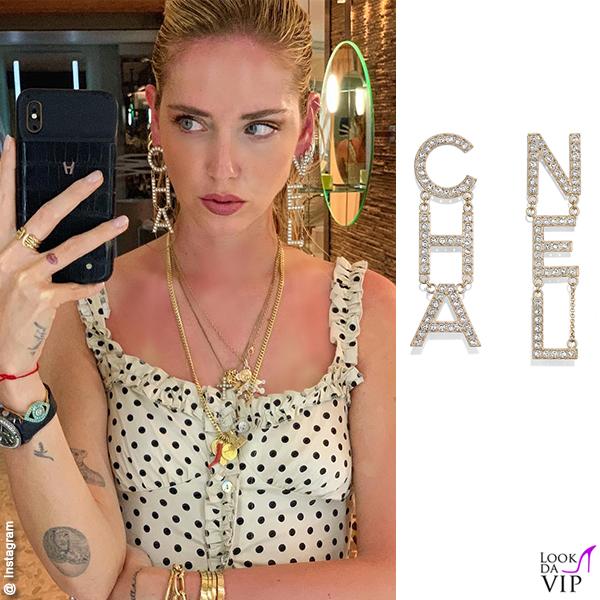 Chiara Ferragni Polinesia orecchini Chanel