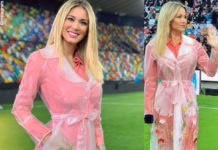 Diletta Leotta Udinese Inter trench Blumarine 2