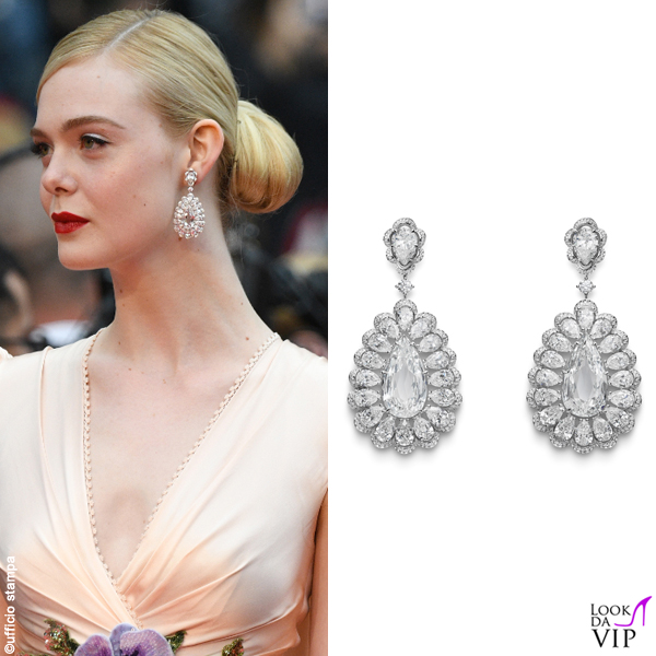 Elle Fanning Cannes 2019 abito Gucci gioielli Chopard