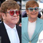 Elton John Cannes 2019 orecchini Chopard abito Gucci