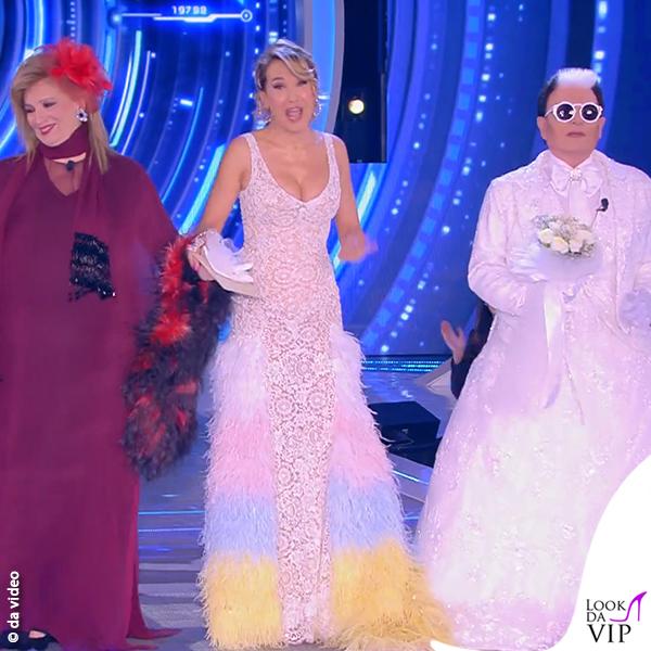 GF 6puntata Iva Zanicchi testimone Cristiano Malgioglio vestito sposa Barbara d'Urso abito Filippo Laterza