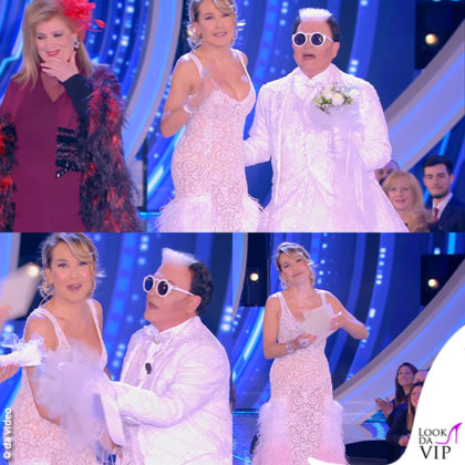 GF 6puntata Iva Zanicchi testimone Cristiano Malgioglio vestito sposa Barbara d'Urso abito Filippo Laterza 7