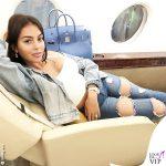 Georgina Rodriguez jeans Fashion Nova borsa Hermes Birkin 1
