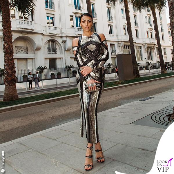 Giulia Salemi Cannes amFar abit Balmain scarpe Zanotti 2