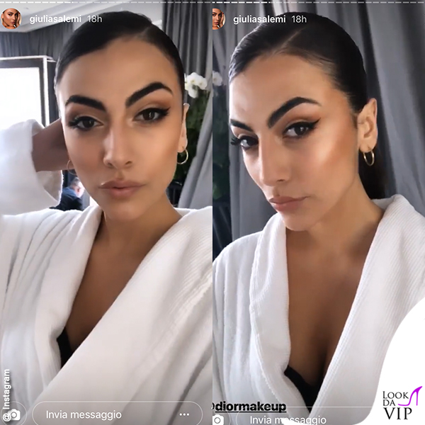 Giulia Salemi Cannes amFar make up 1