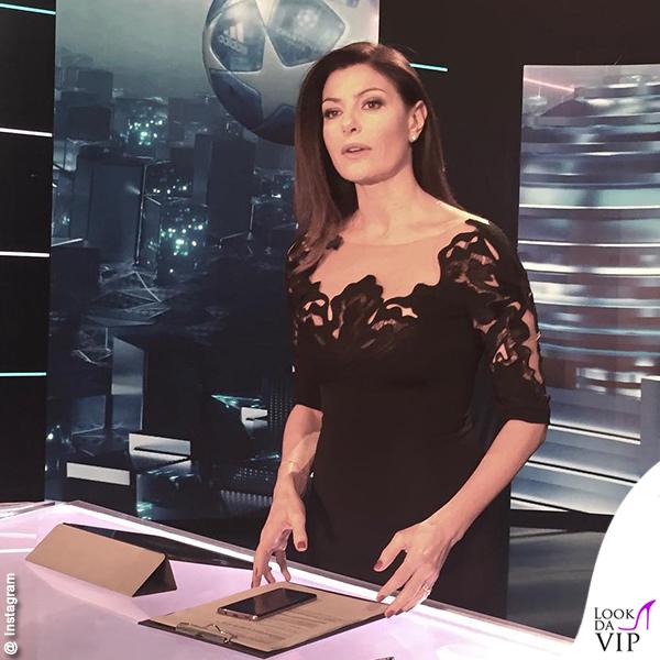 Ilaria D'amico Sky Calcio Show abito Mario Dice
