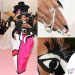 Janelle Monae MET 2019 outfit Christian Siriano unghie