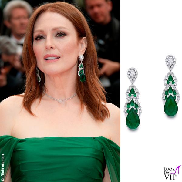 Julianne Moore Cannes 2019 abito Dior gioielli Chopard