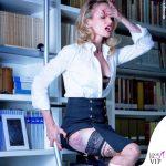 Justine Mattera calze La Mutanderia body Wolford