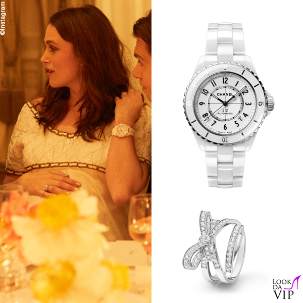 Keira Knightley James Righton incinta outfit orologio gioielli Chanel