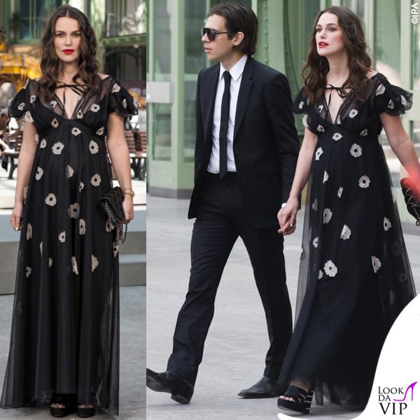 Keira Knightley incinta James Righton outfit Chanel 2