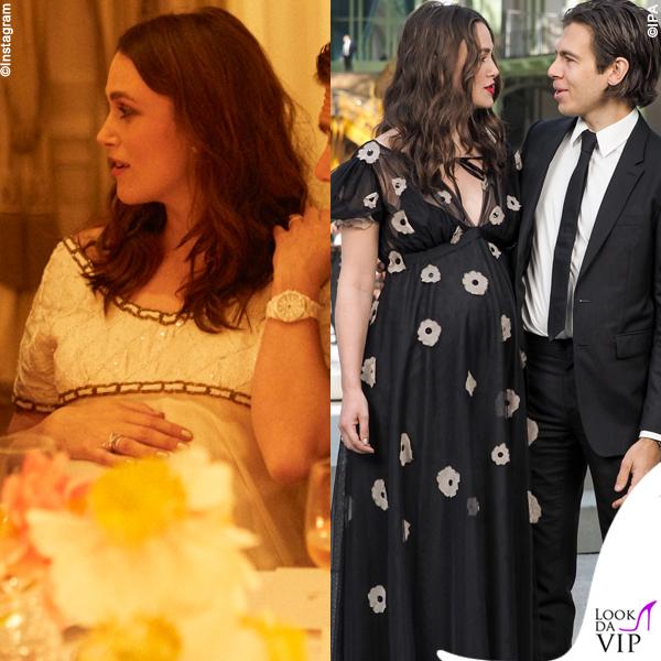 Keira Knightley incinta James Righton outfit Chanel 5