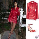 Kourtney Kardashian abito Materiel sandali Gucci