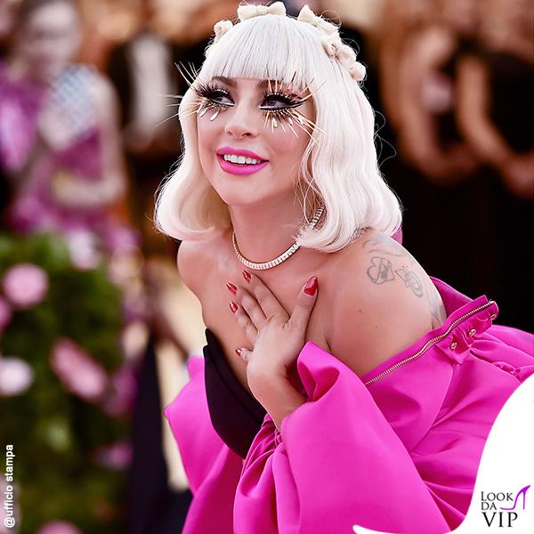 Lady Gaga MET 2019 outfit Brandon Maxwell gioieli Tiffany