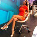 Melissa Satta abito Gcds boots Le Silla