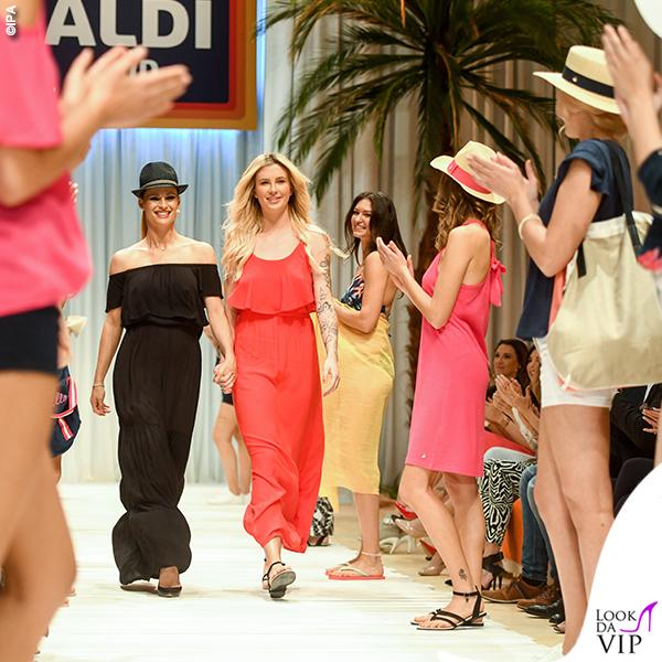 Michelle Hunziker Ireland Baldwin beachwear Aldi