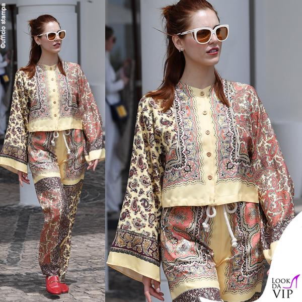 Miriam Leone Cannes 2019 outfit Etro scarpe Gucci 2