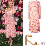 Reese Witherspoon abito Altuzarra sandali Malone Souliers
