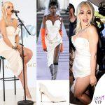 Rita Ora Cannes 2019 gioielli Chopard abito Vivienne Westwood FW 19-20 scarpe Gina