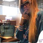 Taylor Mega tuta Gucci borsa Hermès