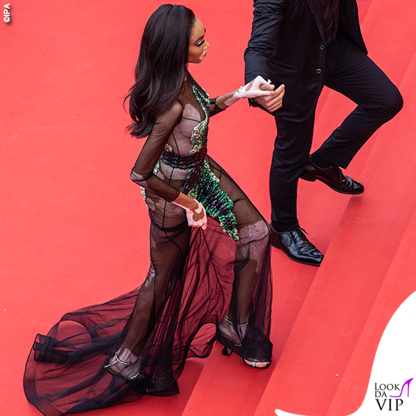 Winnie Harlow Cannes 2019 abito Ralph and Russo 4
