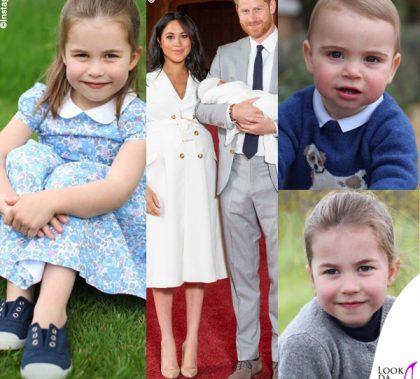 principessa Charlotte principe Louis Meghan Markle Harry Archie