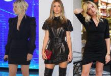 vestito nero Emma Marrone Nicoletta Romanoff Valentina Ferragni