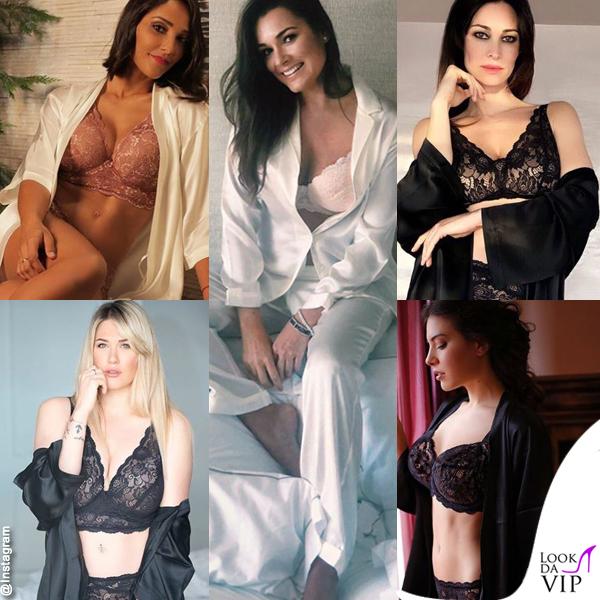 Alena Seredova Juliana Moreira Clarissa Marchese Manuela Arcuri Benedetta Mazza lingerie Intimissimi 1