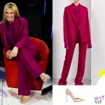 Amici finale Michelle Hunziker tailleur Stella Mccartney scarpe Le Silla 2