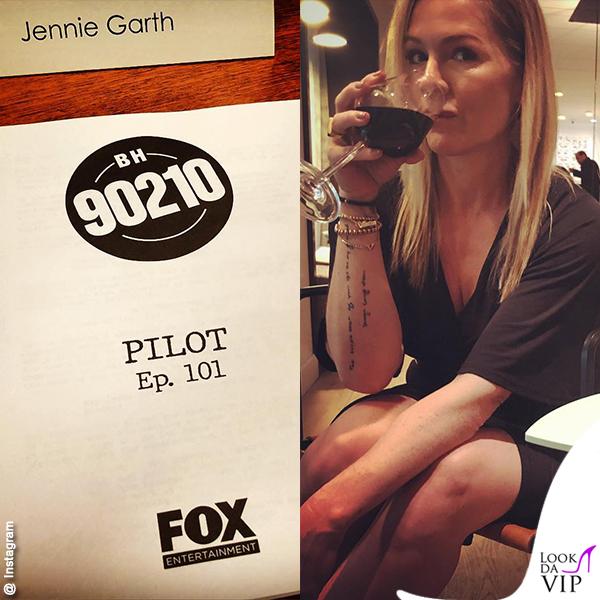 BH90210 Kelly Taylor Jennie Garth copione tatuaggio