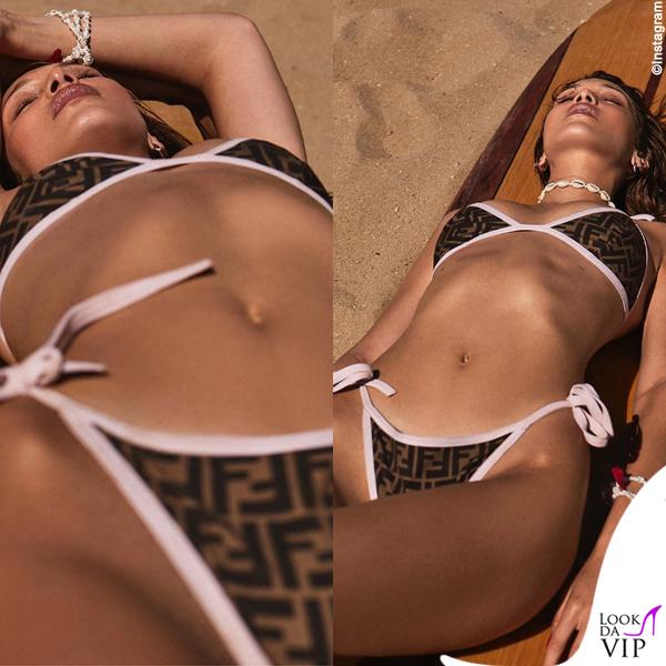 Bella Hadid bikini Fendi 2