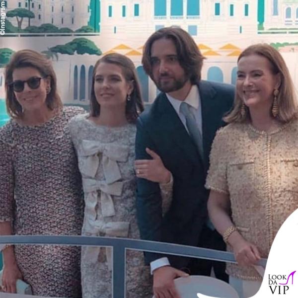 Carolina di Monaco Charlotte Casiraghi Dimitri Rassam Carol Bouquet abiti Chanel e Saint Laurent