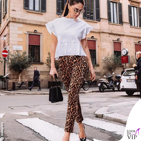 Cecilia Rodriguez leggings animalier Goldenpoint