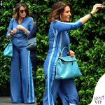 Daniela Santanche borsa Hermes Kelly azzurra