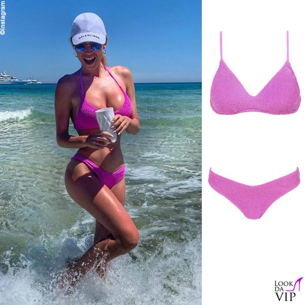 Diletta Leotta bikini Calzedonia cappello Balenciaga