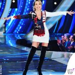 GF terza puntata Barbara d'Urso abito Balmain stivali Casadei 2