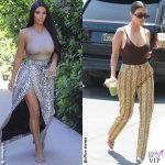 Kim Kardashian gonna animalier Kourtney Kardashian pantaloni Asos