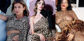Leopardanza e animalier Canalis Capriotti Rihanna Ora Balivo Lamborghini