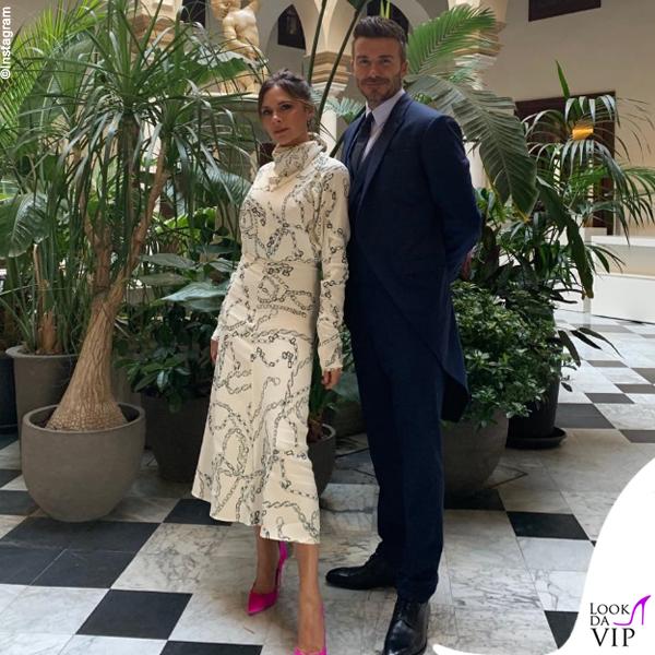 Matrimonio Sergio Ramos David e Victoria Beckham abito Victoria Beckham e Dior