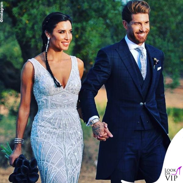 Matrimonio Sergio Ramos e Pilar Rubio abito Zuhair Murad 5