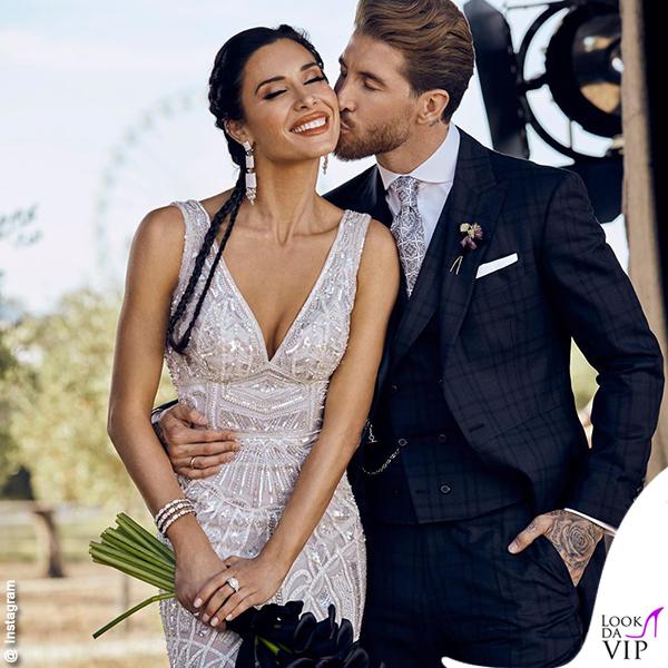 Matrimonio Sergio Ramos e Pilar Rubio abito Zuhair Murad 7
