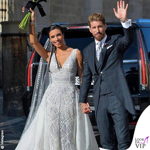 Matrimonio Sergio Ramos e Pilar Rubio abito Zuhair Murad 9