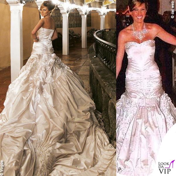 Melania Trump nozze abito da sposa Christian Dior