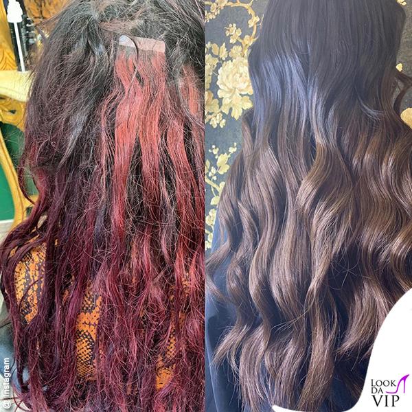 Nina Moric extension prima e dopo 2