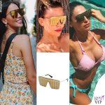 Paola Di Benedetto Costanza Caracciolo Anna Tatangelo occhiali Victoria's Secret