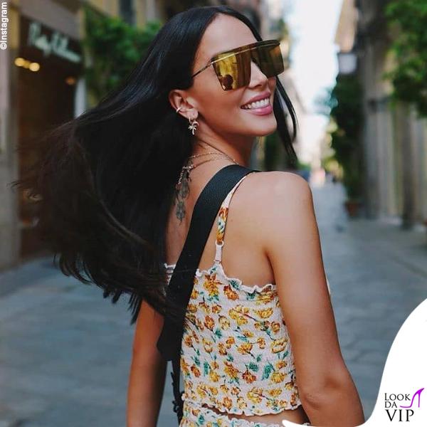 Paola Di Benedetto occhiali Victoria's Secret